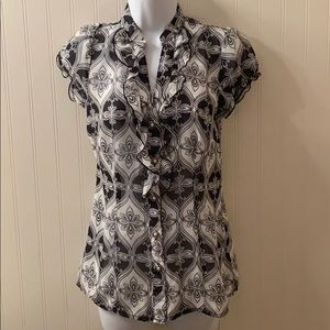Maurice's Black and White Blouse Size Small